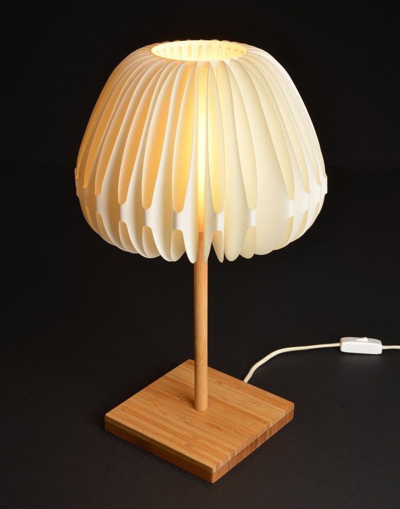 Lampe de chevet bambou et papier - Lampe en papier ...