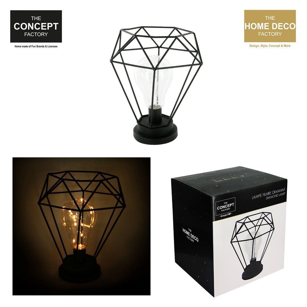 Lampe filaire diamant