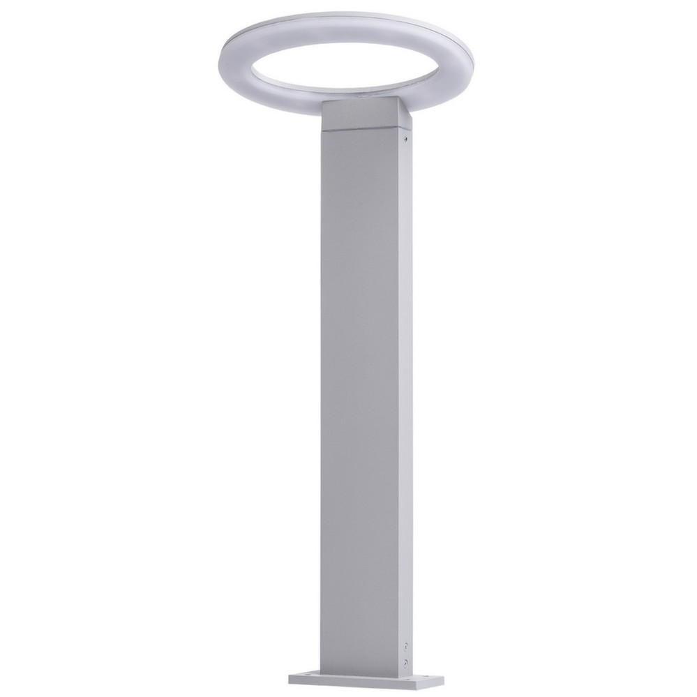 Lampe de jardin futuriste anneau led blanche for Lampe led jardin