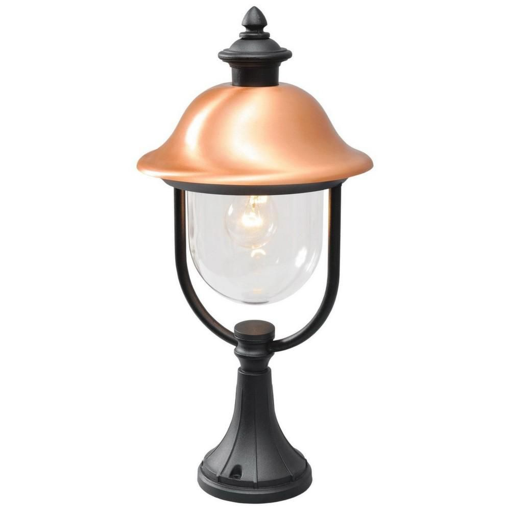 lampe de jardin lanterne noire cuivr e. Black Bedroom Furniture Sets. Home Design Ideas