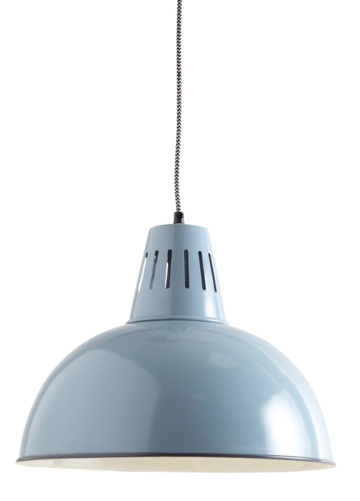 Lampe suspension vintage en m tal laqu - Lampe suspension vintage ...