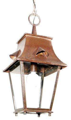 lanterne saumur suspendre en fer forg 34x34x70cm. Black Bedroom Furniture Sets. Home Design Ideas