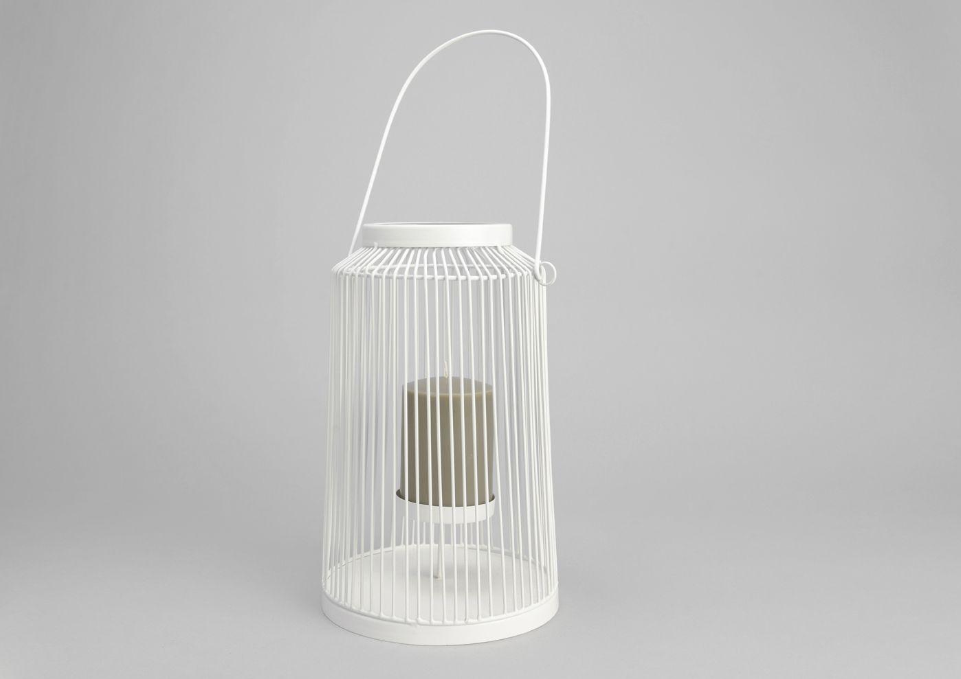lanterne ajour e blanche. Black Bedroom Furniture Sets. Home Design Ideas