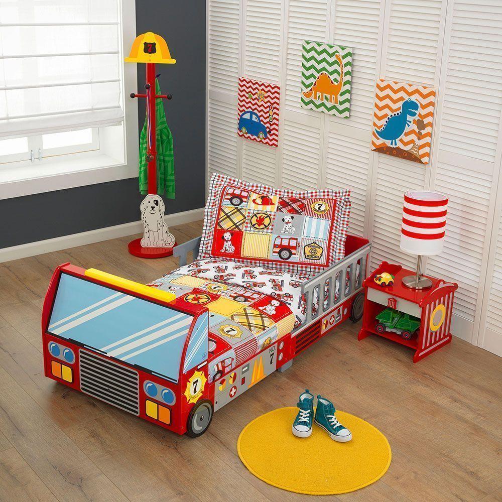 Lit pour enfant pompier - Chambre enfant pompier ...