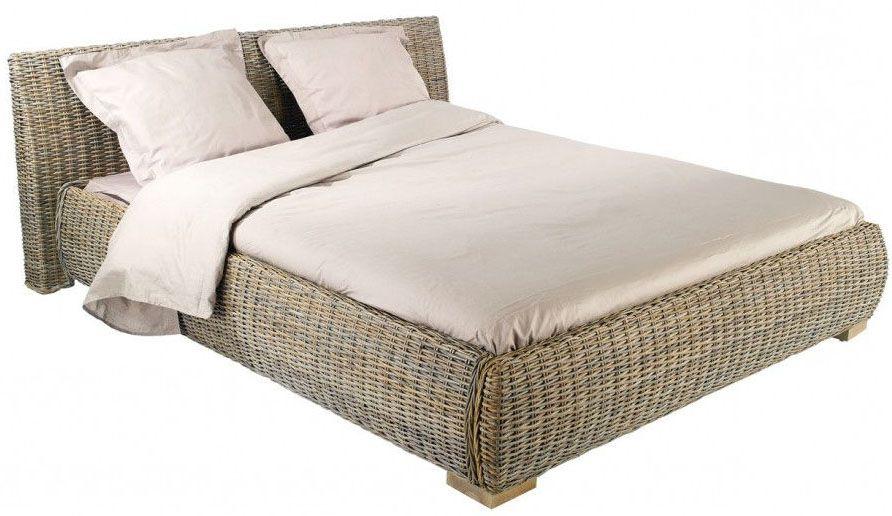 Lit en rotin kubu - Tete de lit rotin blanc ...