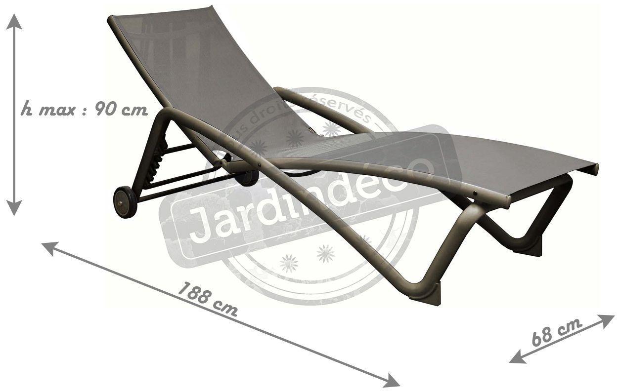lit de soleil en aluminium zoe lot de 2 taupe. Black Bedroom Furniture Sets. Home Design Ideas