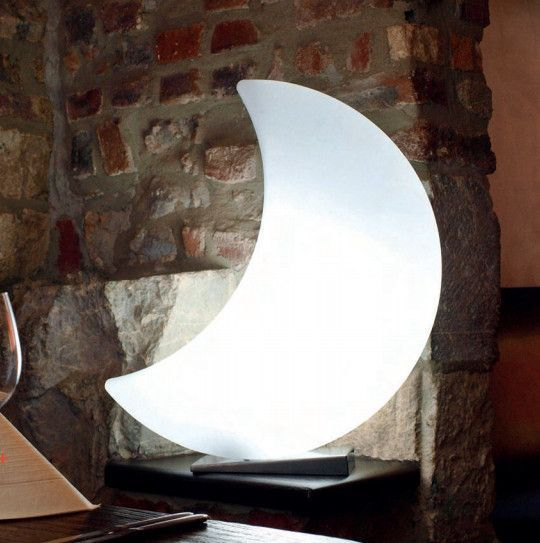 Lune lumineuse blanche changement couleur LED-2