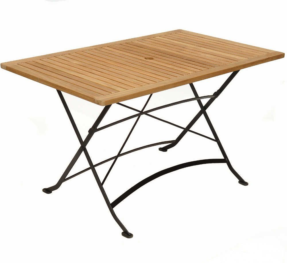 Table de jardin en fer forg pliante for Table en fer exterieur