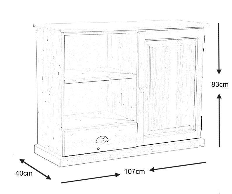 meuble en pin brut images. Black Bedroom Furniture Sets. Home Design Ideas