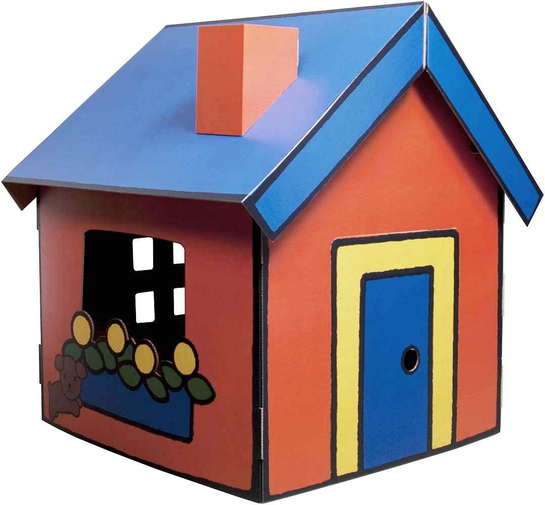 maison en carton construire miffy jardind co. Black Bedroom Furniture Sets. Home Design Ideas