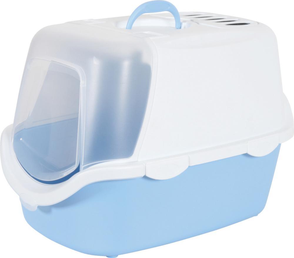 maison de toilette chat nettoyage facile bleu. Black Bedroom Furniture Sets. Home Design Ideas