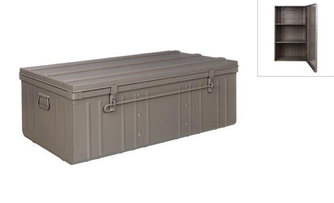 malle armoire en acier 2 en 1. Black Bedroom Furniture Sets. Home Design Ideas