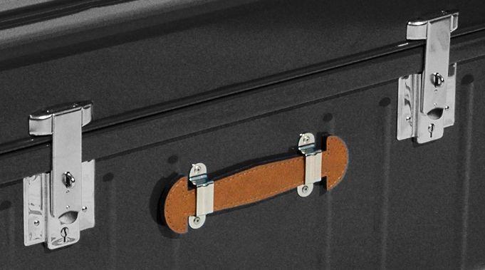 malle m tallique rangement avec poign es 160 litres. Black Bedroom Furniture Sets. Home Design Ideas