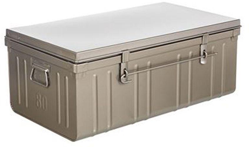 malle de rangement 130 litres gris souris nacr. Black Bedroom Furniture Sets. Home Design Ideas