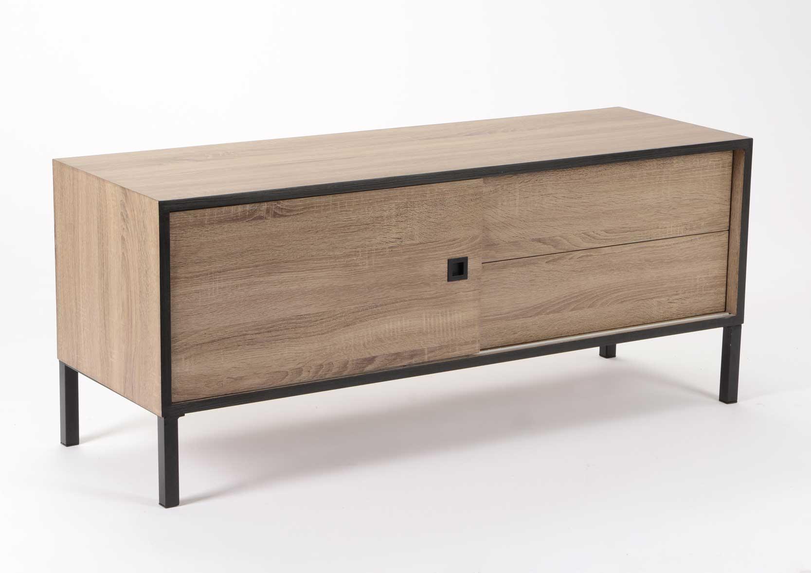 meuble t l avec armatures m tal. Black Bedroom Furniture Sets. Home Design Ideas