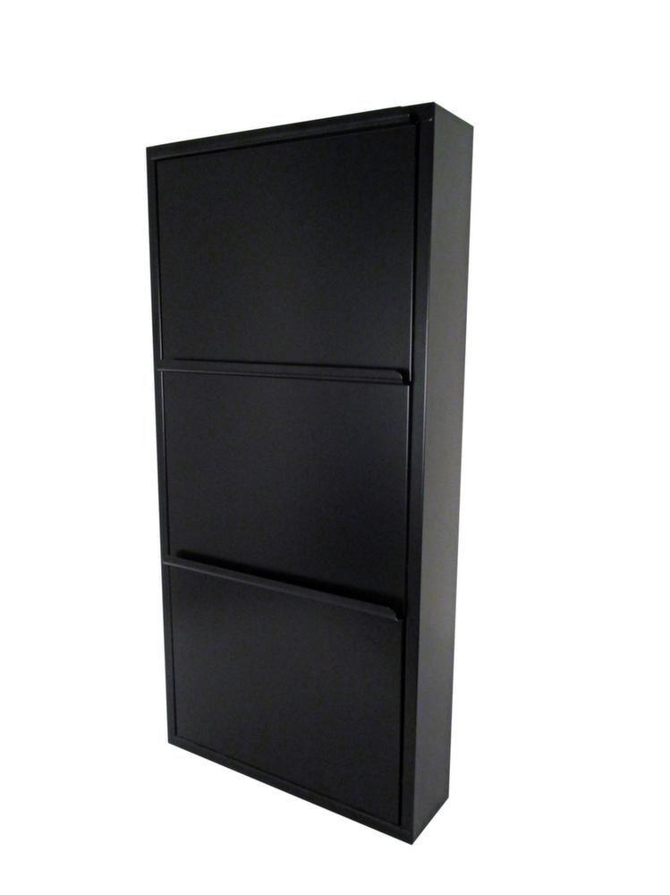 meuble range chaussures en acier avec 3 abattants. Black Bedroom Furniture Sets. Home Design Ideas