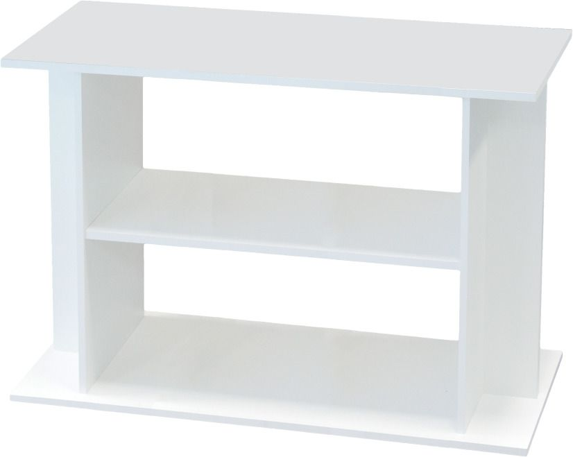 Meuble pour aquarium aqua 100x30 cm blanc for Meuble aquarium 120 cm