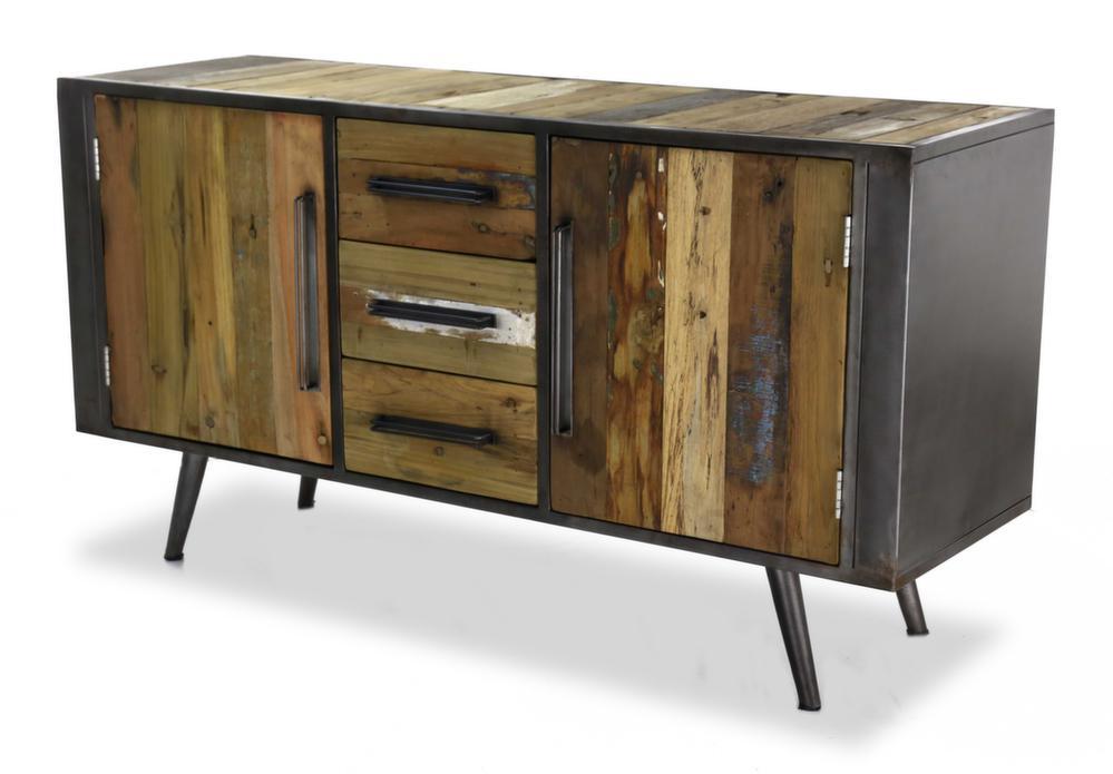 meuble bas 2 portes et 3 tiroirs nordic. Black Bedroom Furniture Sets. Home Design Ideas