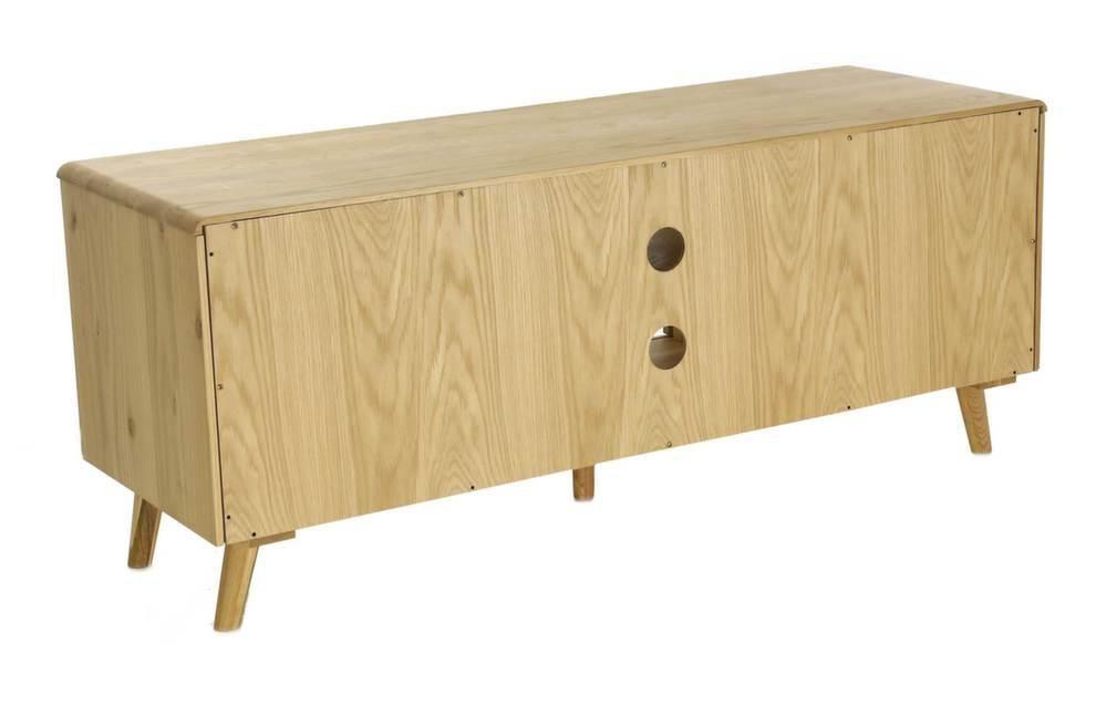 meuble tv 2 portes coulissantes et 2 niches elfy. Black Bedroom Furniture Sets. Home Design Ideas