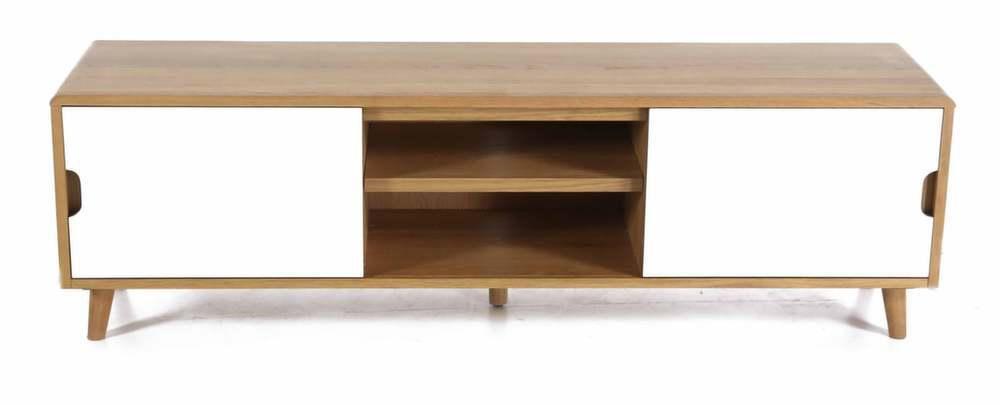 meuble tv 2 portes coulissantes et 2 niches. Black Bedroom Furniture Sets. Home Design Ideas