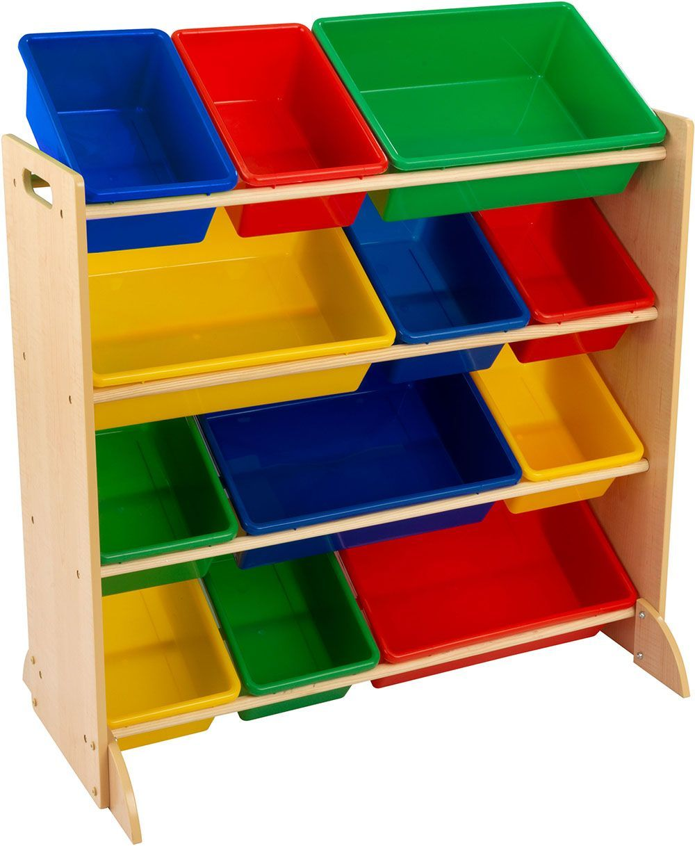 meuble de rangement en bois 12 bacs pour enfant. Black Bedroom Furniture Sets. Home Design Ideas