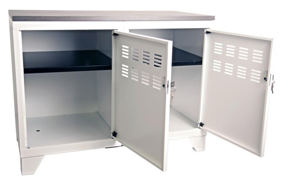 Meuble rangement m tallique 2 portes - Colonne metallique rangement ...