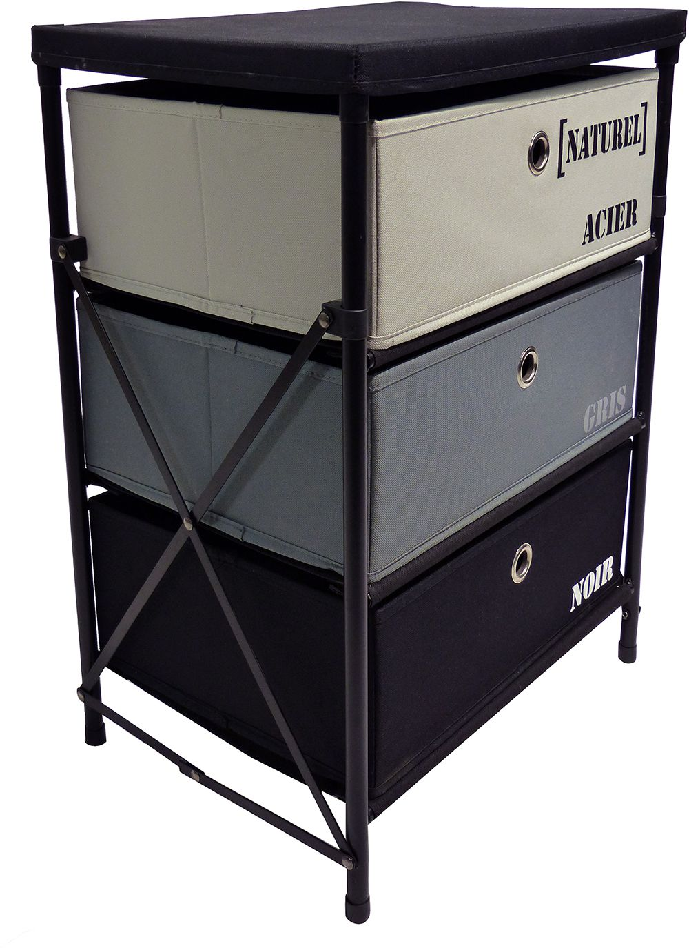 Meuble 3 tiroirs kzabox for Meuble bureau 15 tiroirs