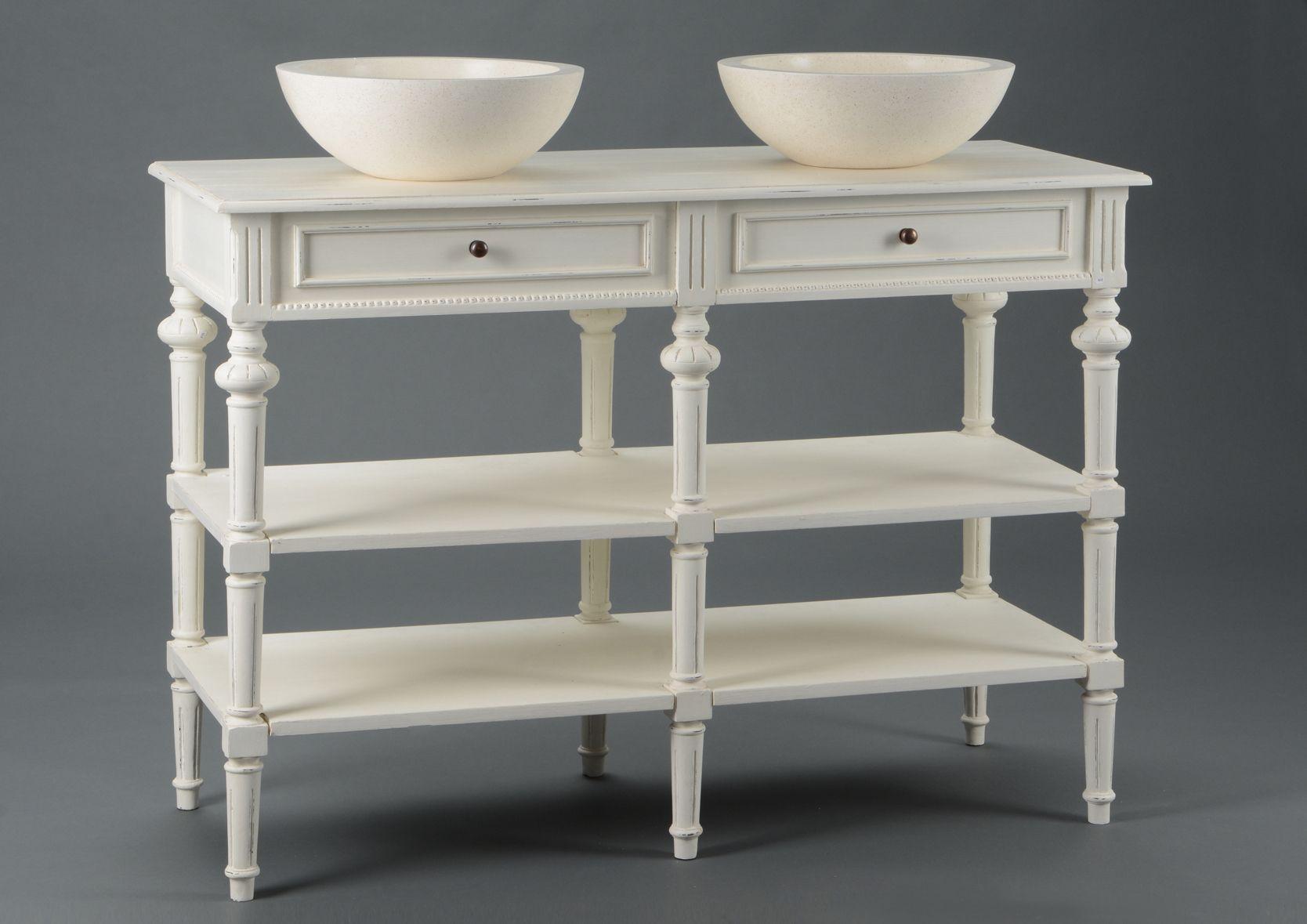Meuble vasque 2 perle - Vasque sur meuble ...