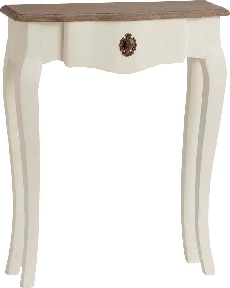 mini console celestine blanche en bois mdf. Black Bedroom Furniture Sets. Home Design Ideas