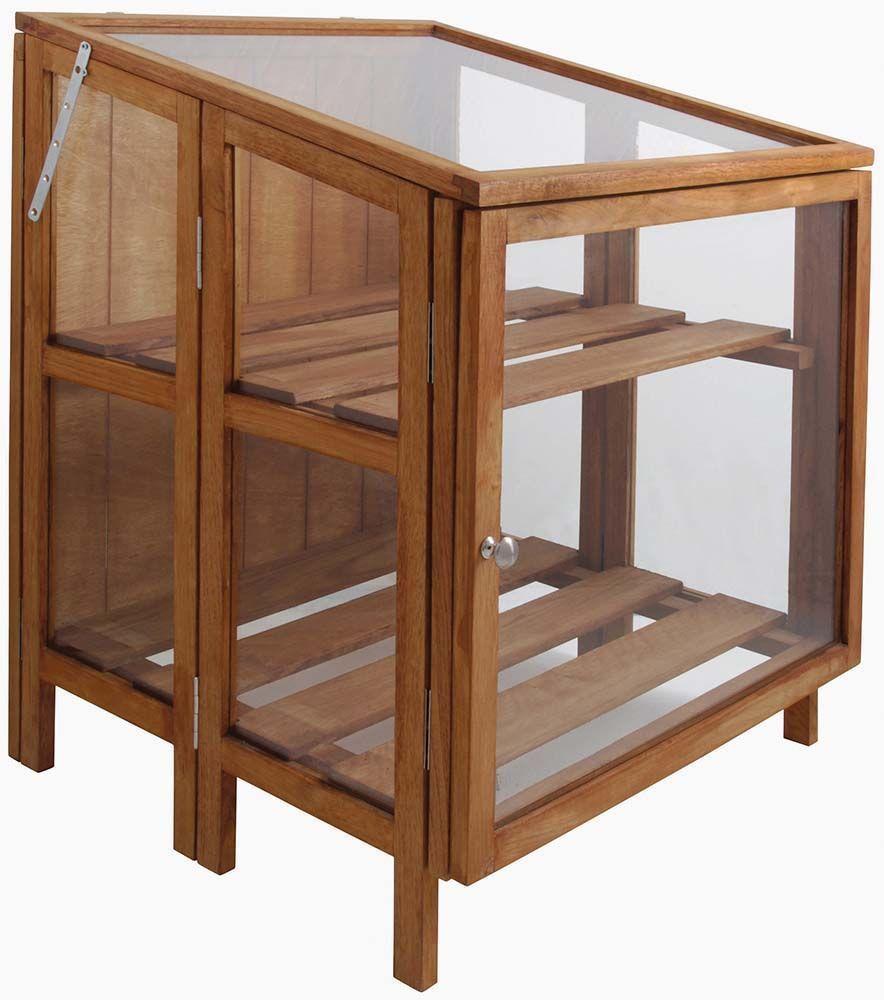 mini serre de jardin en bois dur 60 cm. Black Bedroom Furniture Sets. Home Design Ideas
