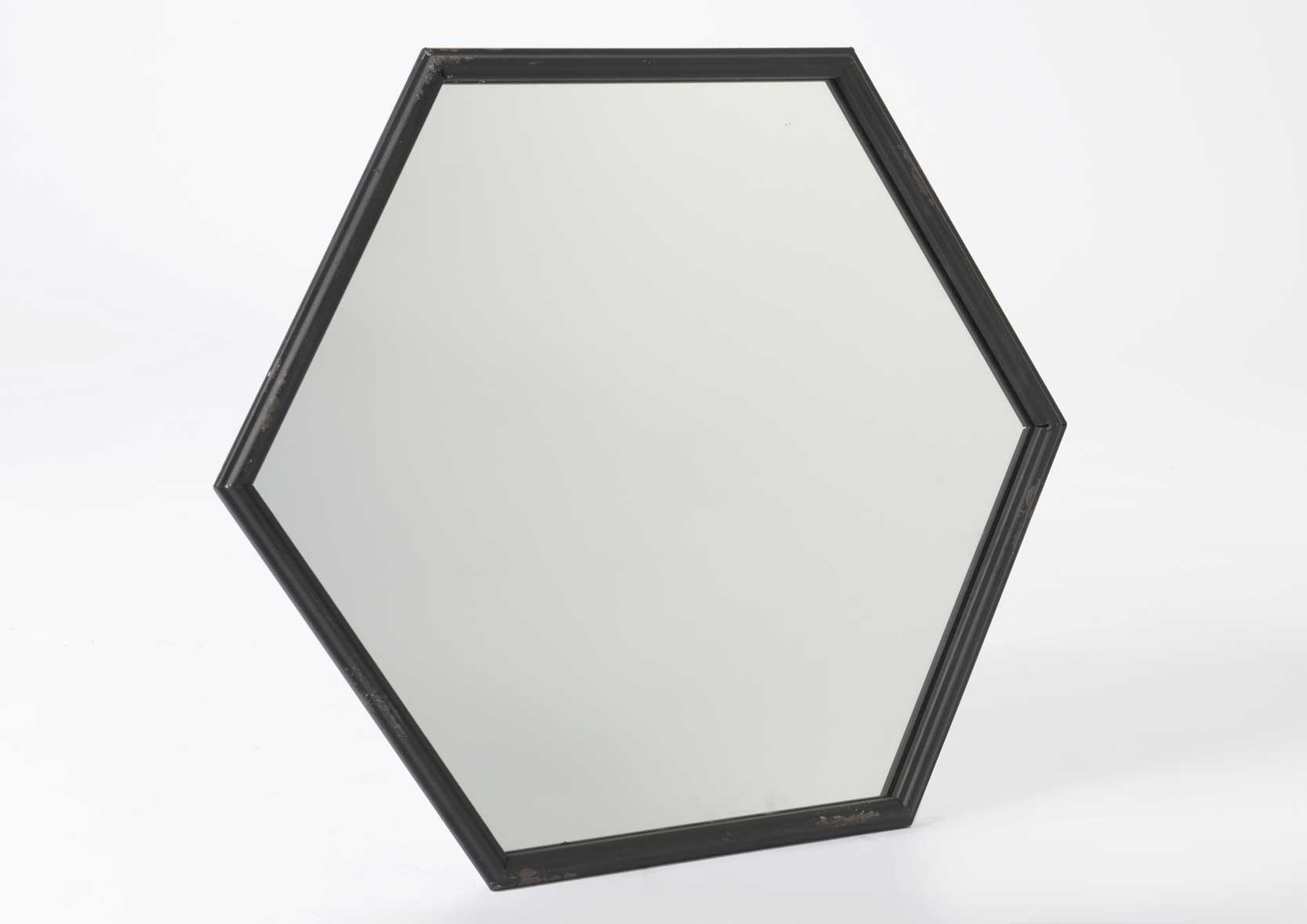 miroir hexagonal. Black Bedroom Furniture Sets. Home Design Ideas