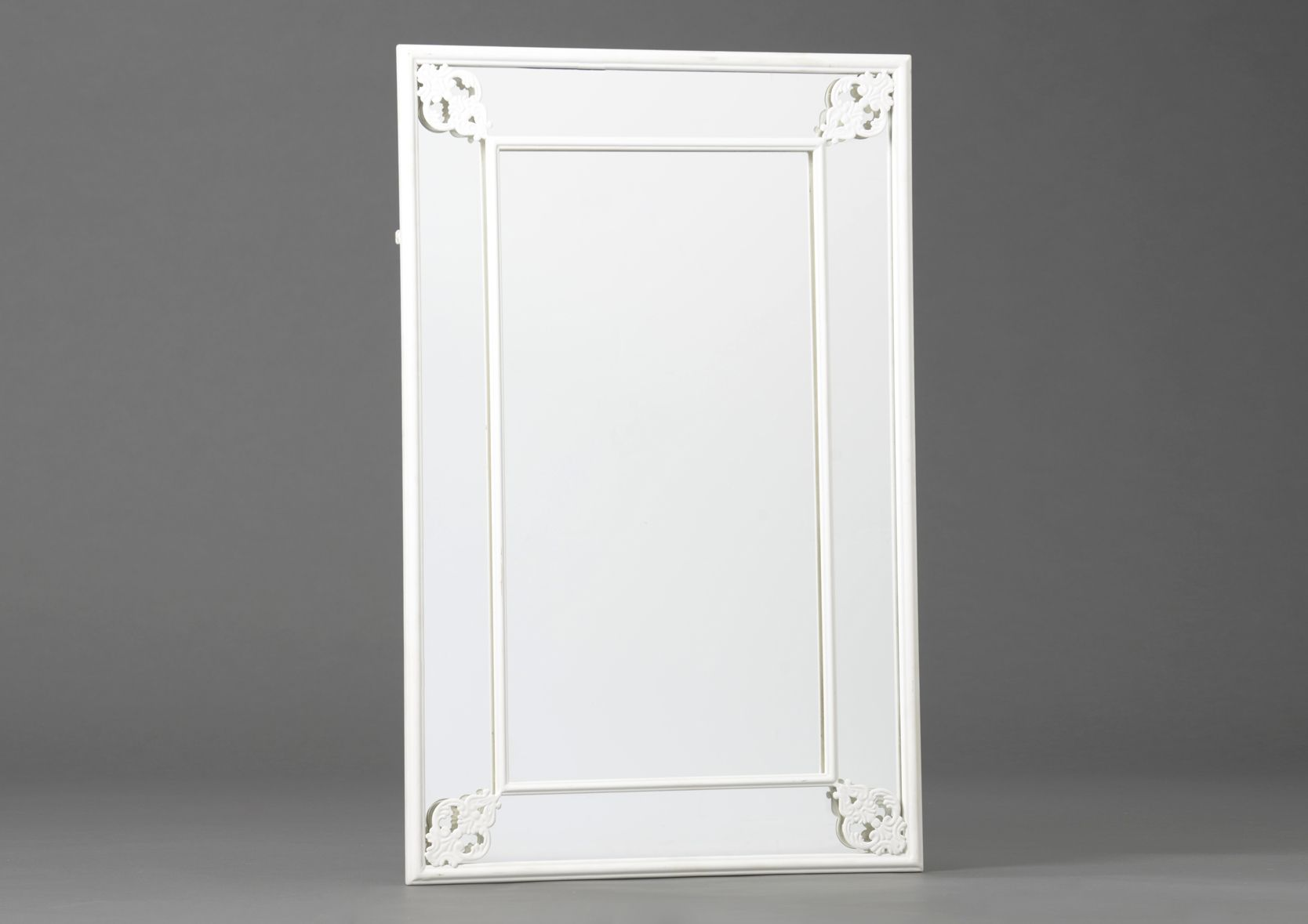 miroir m tal blanc 55x86cm. Black Bedroom Furniture Sets. Home Design Ideas