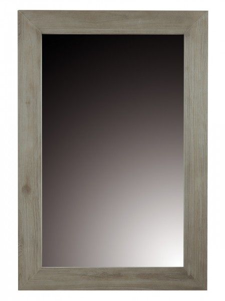 Miroir carr imitation bois flott for Miroir carre blanc