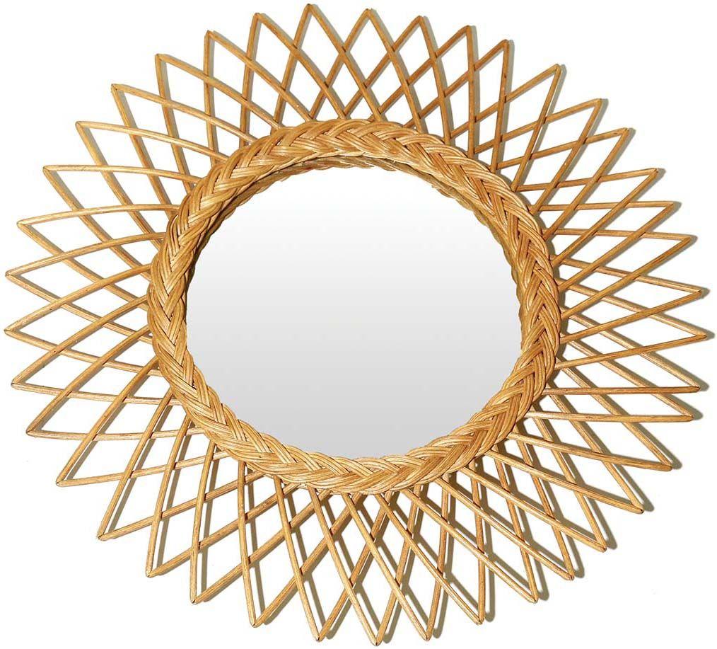 Miroir soleil en rotin garden for Miroir en soleil