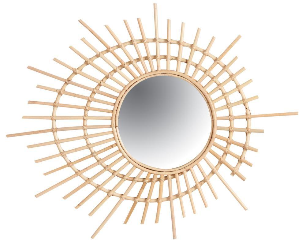 Jardin maison meubles d coration for Miroir rotin noir
