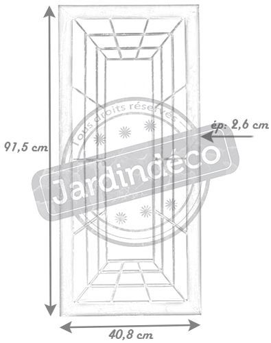 miroir trompe l 39 oeil rectangulaire. Black Bedroom Furniture Sets. Home Design Ideas
