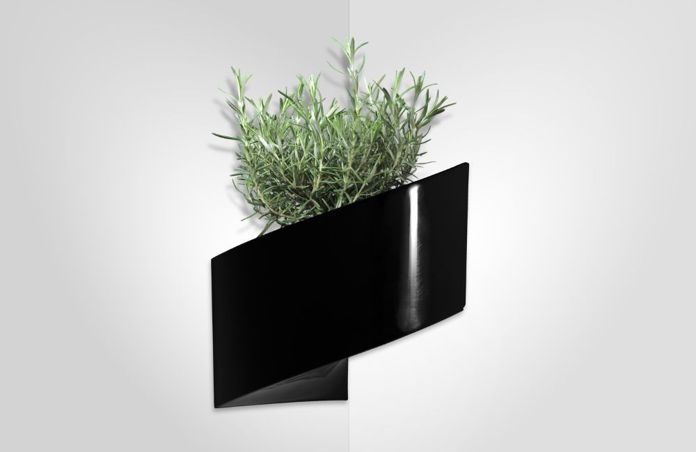 jardini re murale noire modul 39 green 1 module vase soliflore green turn sur. Black Bedroom Furniture Sets. Home Design Ideas