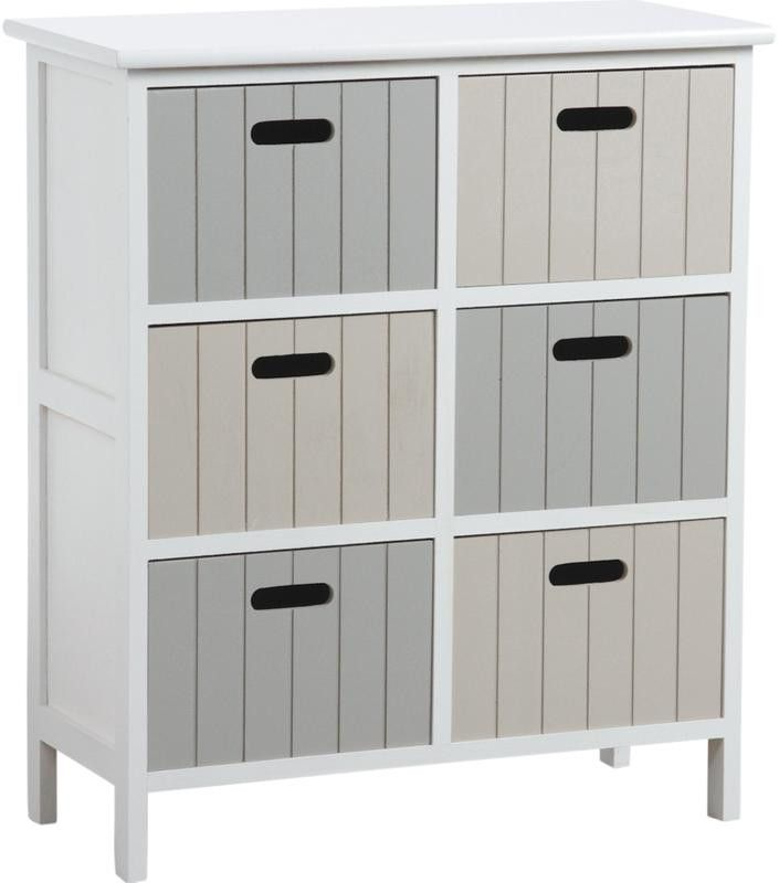 Commode 6 tiroirs en medium tradition - Commode salle de bain ikea ...