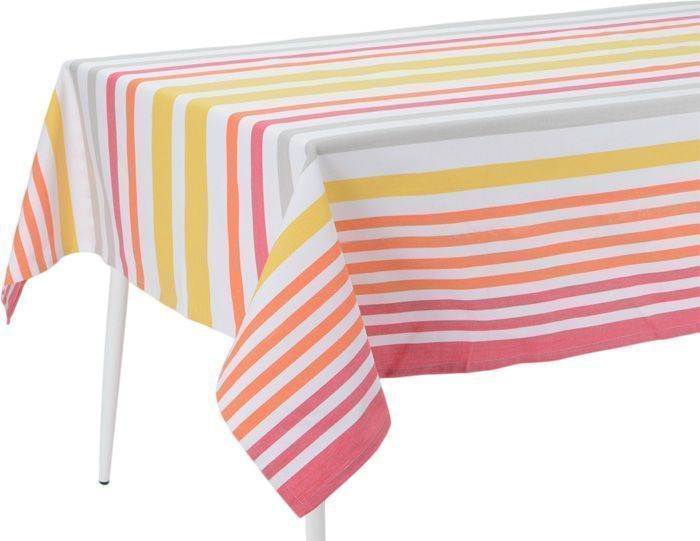 image_Nappe enduite � rayures multicolores