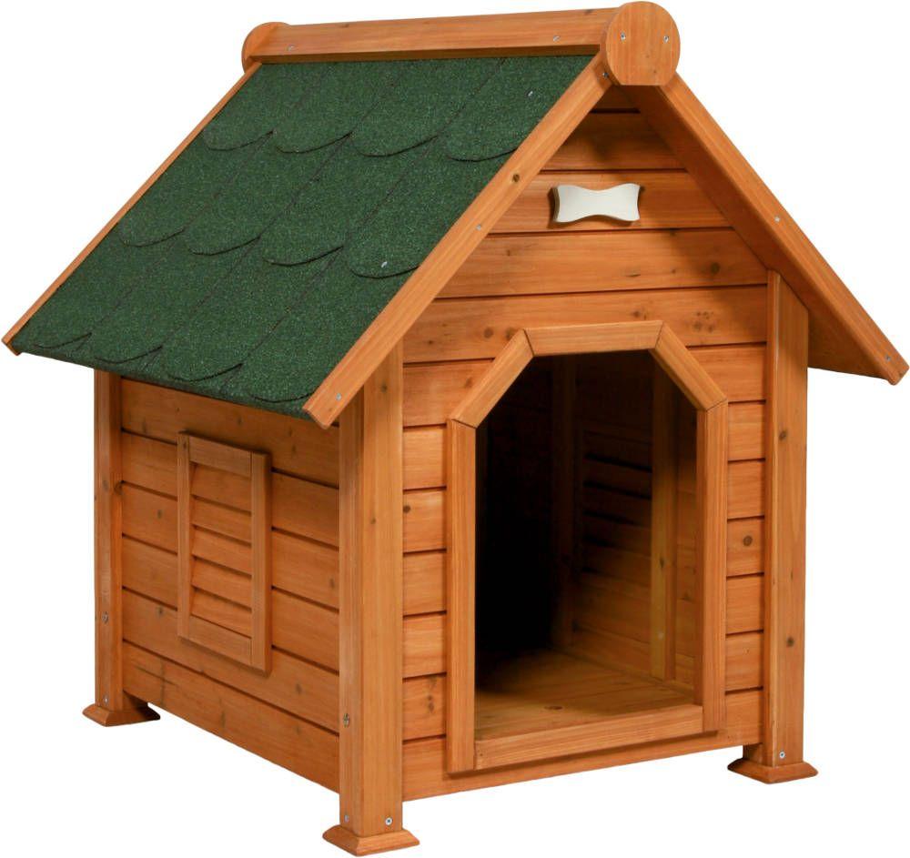 Niche chien en bois toundra small for Niche chien exterieur