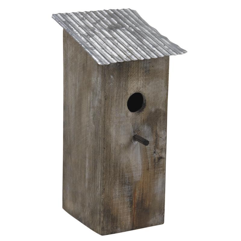 nichoir oiseau bois et zinc. Black Bedroom Furniture Sets. Home Design Ideas