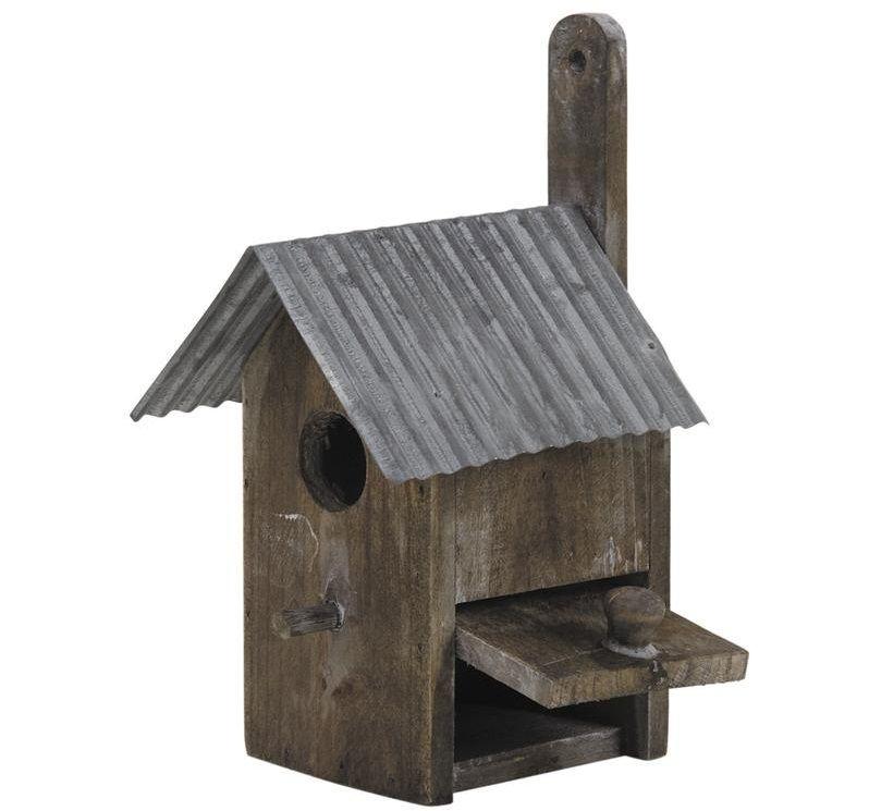 Nichoir oiseau bois et zinc nichoire oiseaux sur - Maison oiseau bois ...