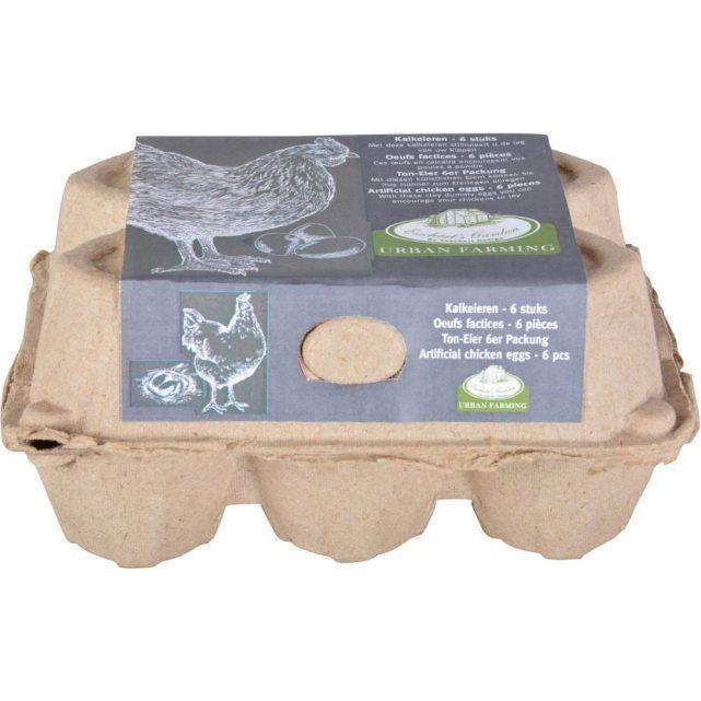 Oeufs de chaux pour poulailler en calcaire lot de 6 for Lot meuble ecureuil