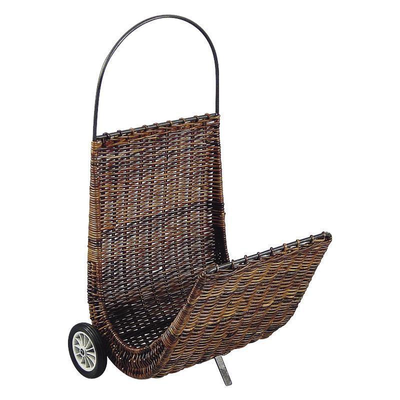 Chariot � b�ches en poelet croco sur roulettes 48x56x87cm