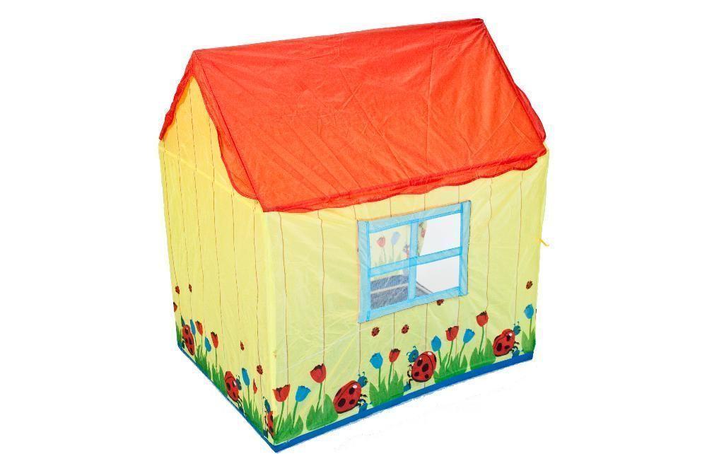 Tente enfant maison coccinelles for Tente enfant exterieur