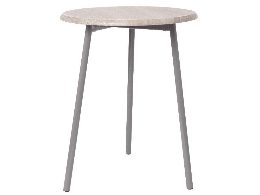 Table basse pt living en bois et m�tal gris 40x50cm
