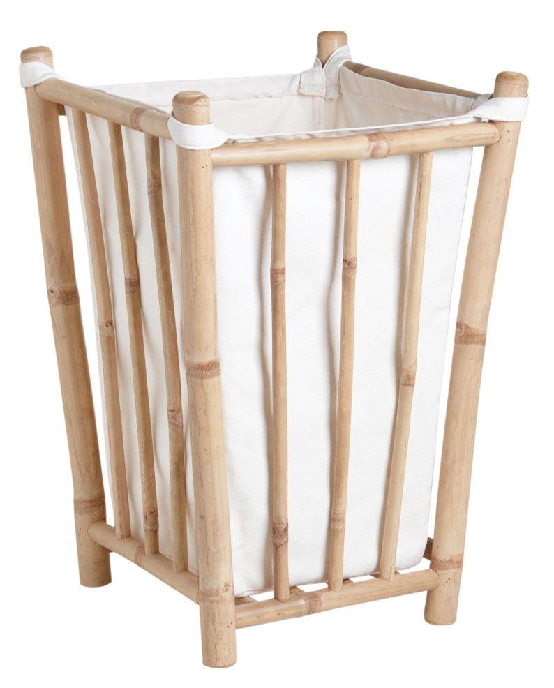 panier linge en bambou et coton. Black Bedroom Furniture Sets. Home Design Ideas