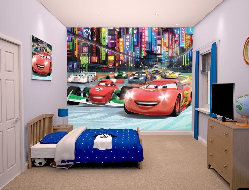 Papier peint walltastic disney cars - Deco kamer kind gemengd ...