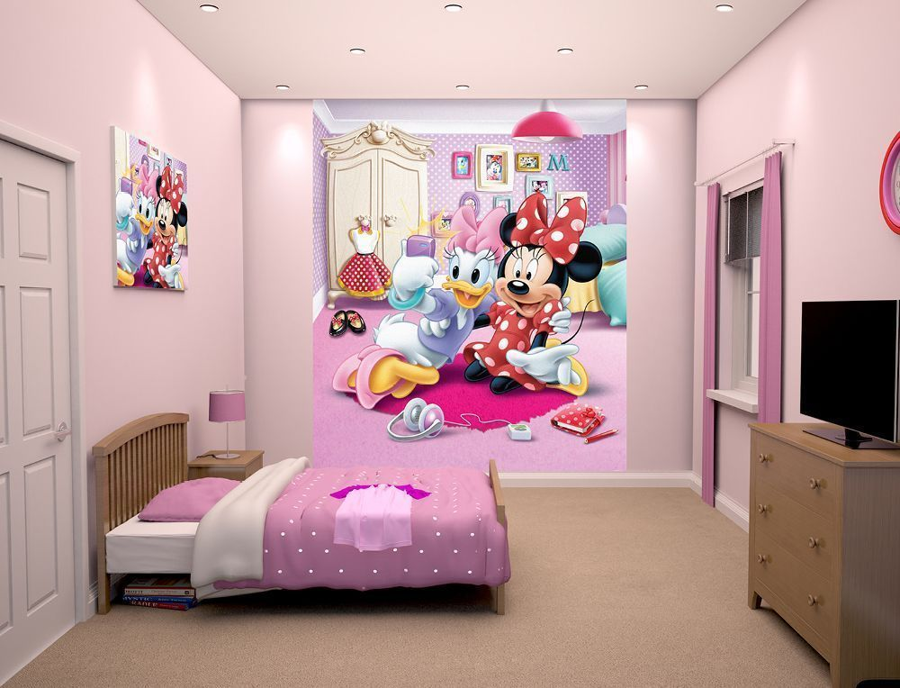 Papier peint walltastic minnie et daisy - Minnie et daisy ...