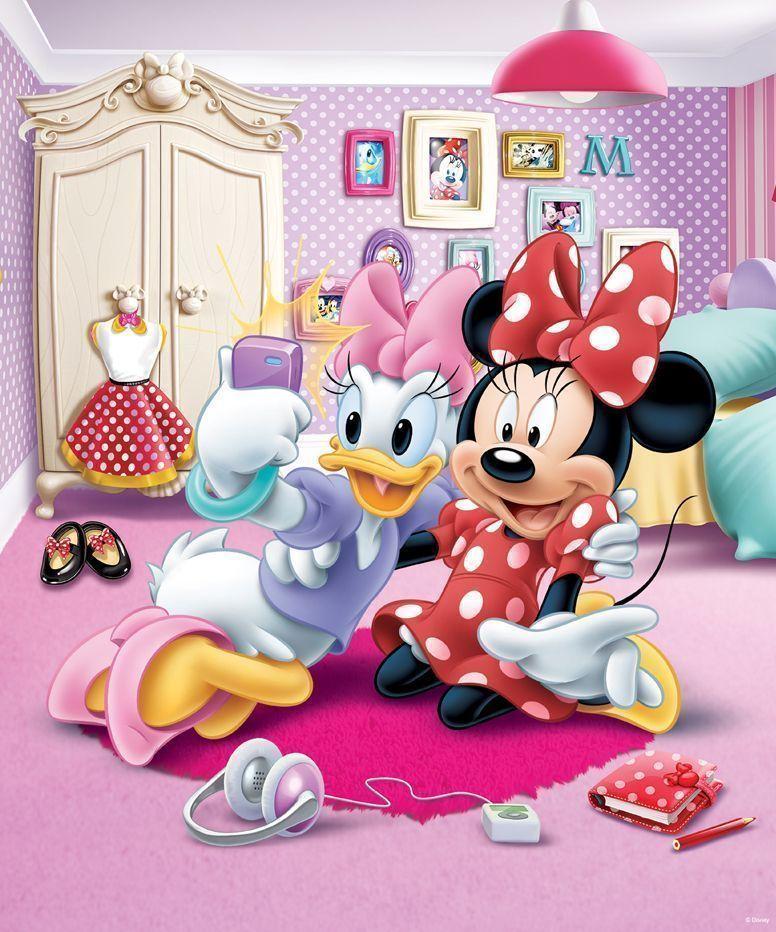 Le monde des enfants d coration papier peint - Minnie et daisy ...